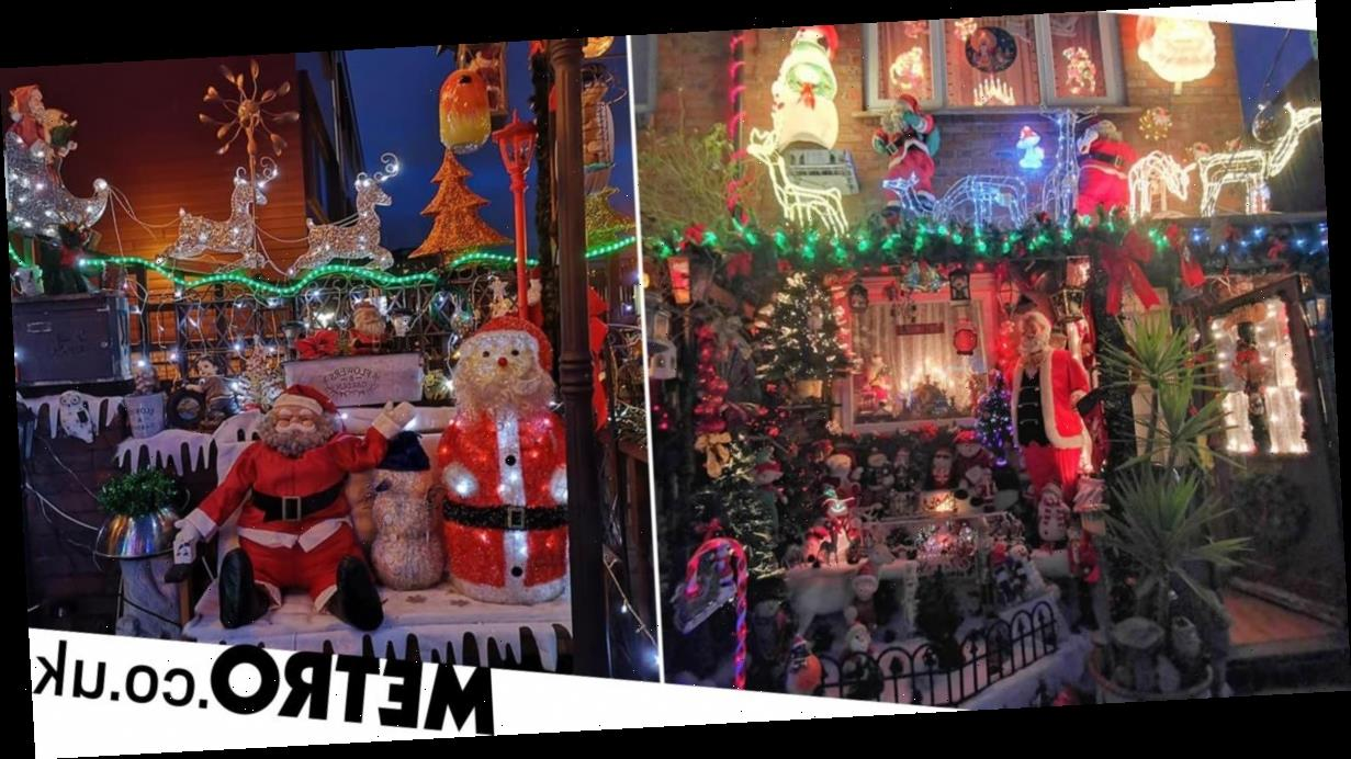 Couple spend eight weeks and £5,000 on their outdoor Christmas lights
