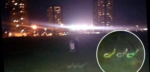 Mum completely spooked after mysterious '666' symbol appears in wintery photo of her kids