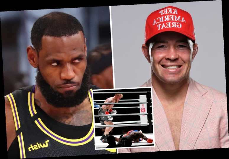 UFC star Colby Covington calls out LeBron James and vows to make him 'eat the canvas' after Jake Paul KOs Nate Robinson