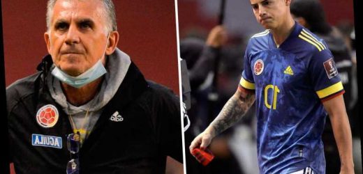 Ex-Man Utd coach Queiroz sacked by Colombia 'after losing respect of team by giving away James Rodriguez's No10 shirt'