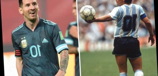 Diego Maradona's son asks Lionel Messi to give up iconic No10 shirt for Barcelona and Argentina to honour his dad