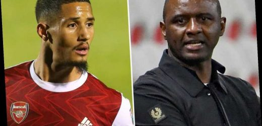Arsenal legend Patrick Vieira wants William Saliba on loan transfer as Gunners look to develop ace