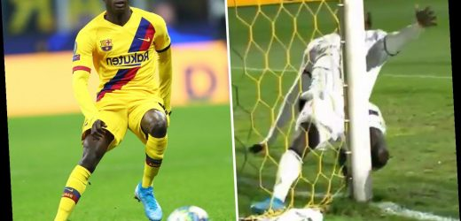 Barcelona star Moussa Wague, 22, out for NINE months after 'shattering' knee amid fears he would be forced to retire
