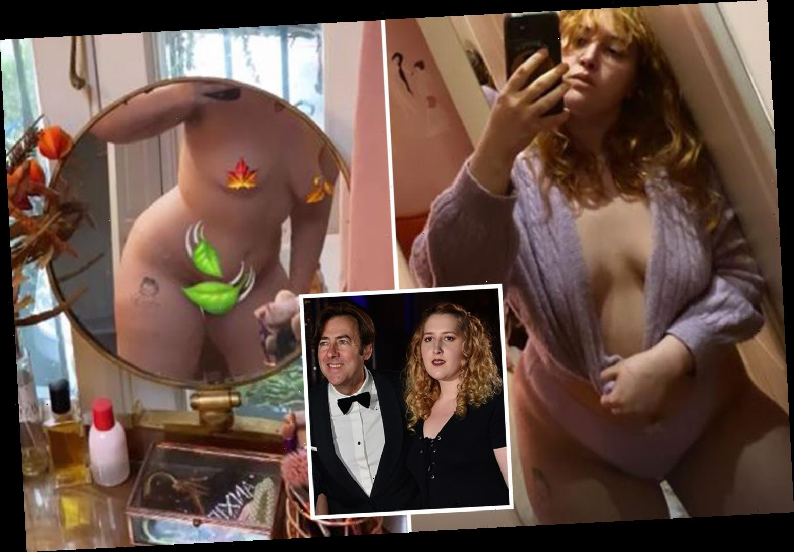 Jonathan Ross's daughter Honey, 23, says she's obsessed with her 'sl***y granny pants' as she strips off again