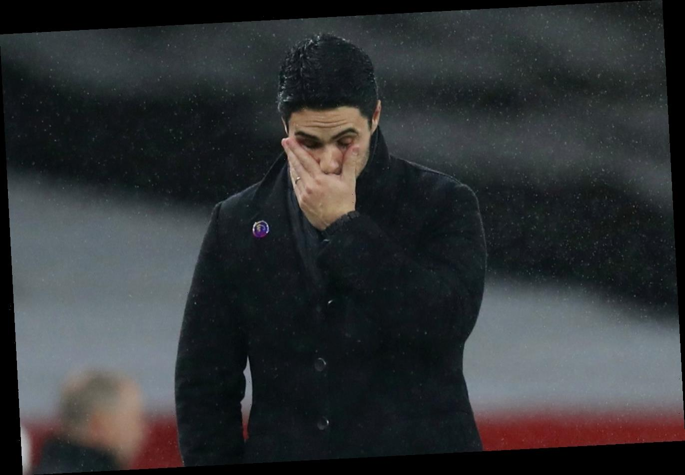 Mikel Arteta admits his players are NOT happy and is feeling pressure as Arsenal drop towards relegation zone