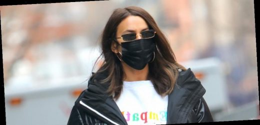 Irina Shayk Urges 'Empathy' While Wearing a Chic Sweatsuit During Coffee Run in NYC