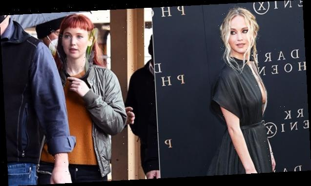 Jennifer Lawrence's Red Hair Makeover: She Shows Off Fiery Wig On Movie Set — Before & After Pics