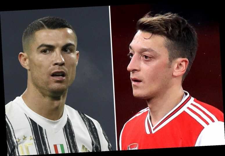 Mesut Ozil 'offered to Juventus' and Arsenal outcast could join on a loan transfer for reunion with Cristiano Ronaldo
