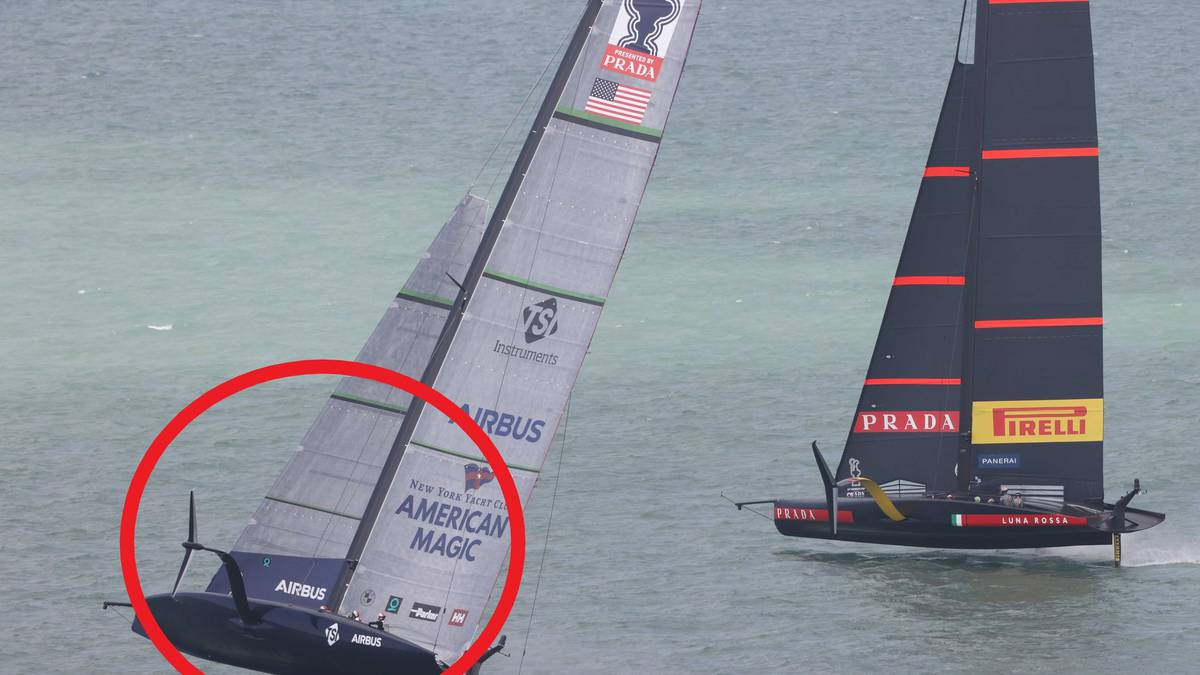 America's Cup 2021: American Magic survives heart-stopping near-capsize in defeat to Luna Rossa on day two of World Series