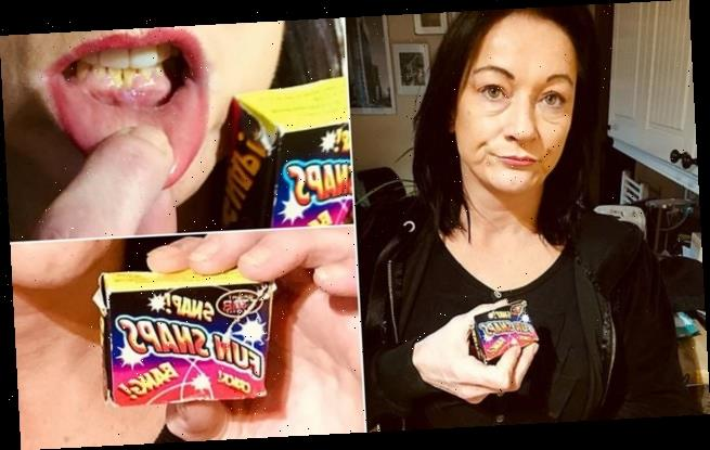Mother-of-one 'left with chemical burns' after eating mini FIREWORKS