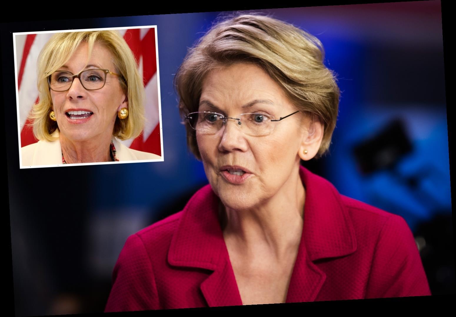Betsy DeVos was 'worst Secretary of Education ever' says Elizabeth Warren after she quits over violent Capitol riots