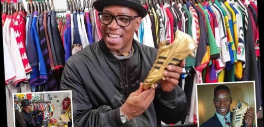Arsenal legend Ian Wright is finally reunited with long-lost golden boot and precious mementoes