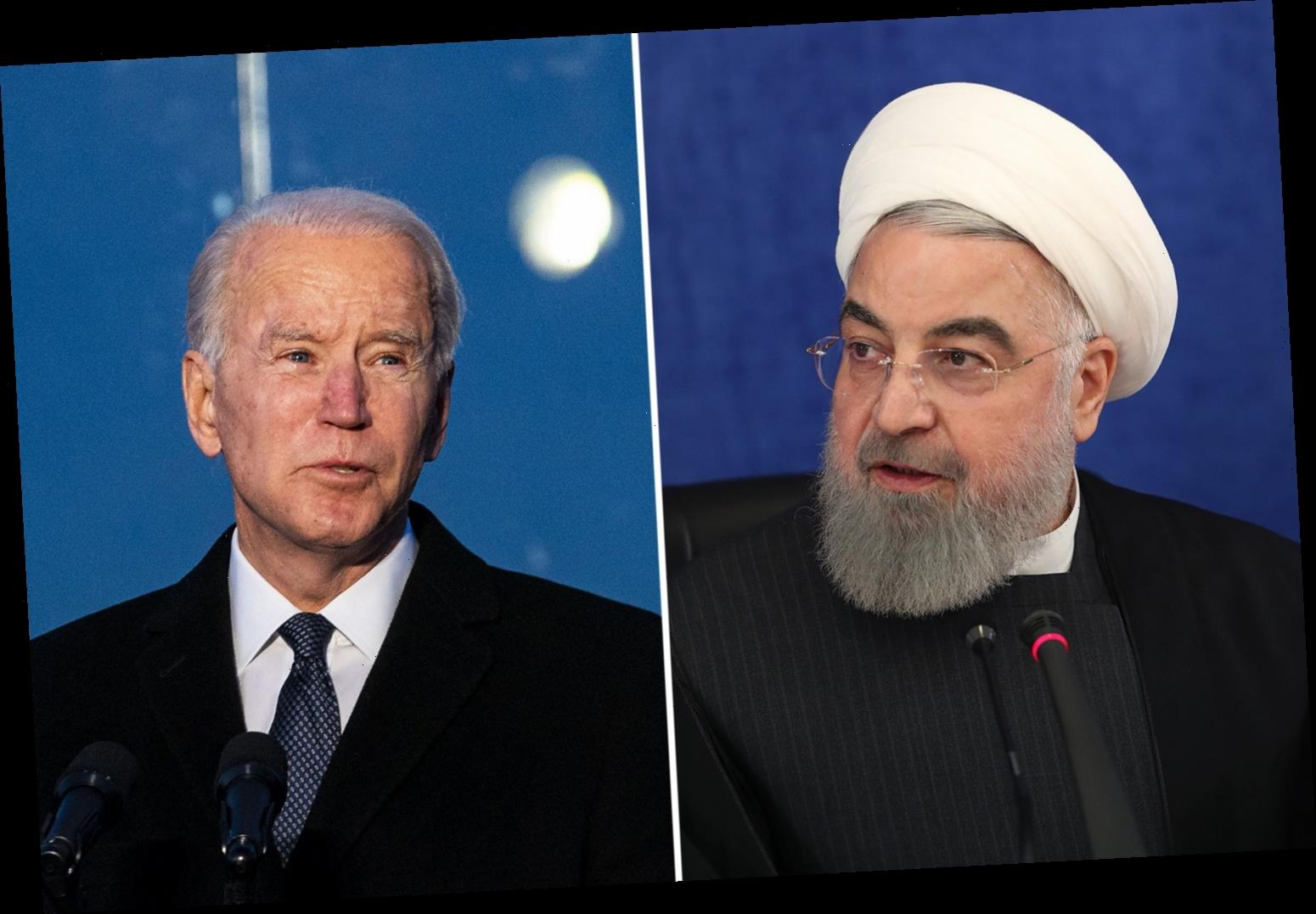 Iran President Rouhani tells Joe Biden 'the ball is in your court' over nuclear deal after days of massive war games