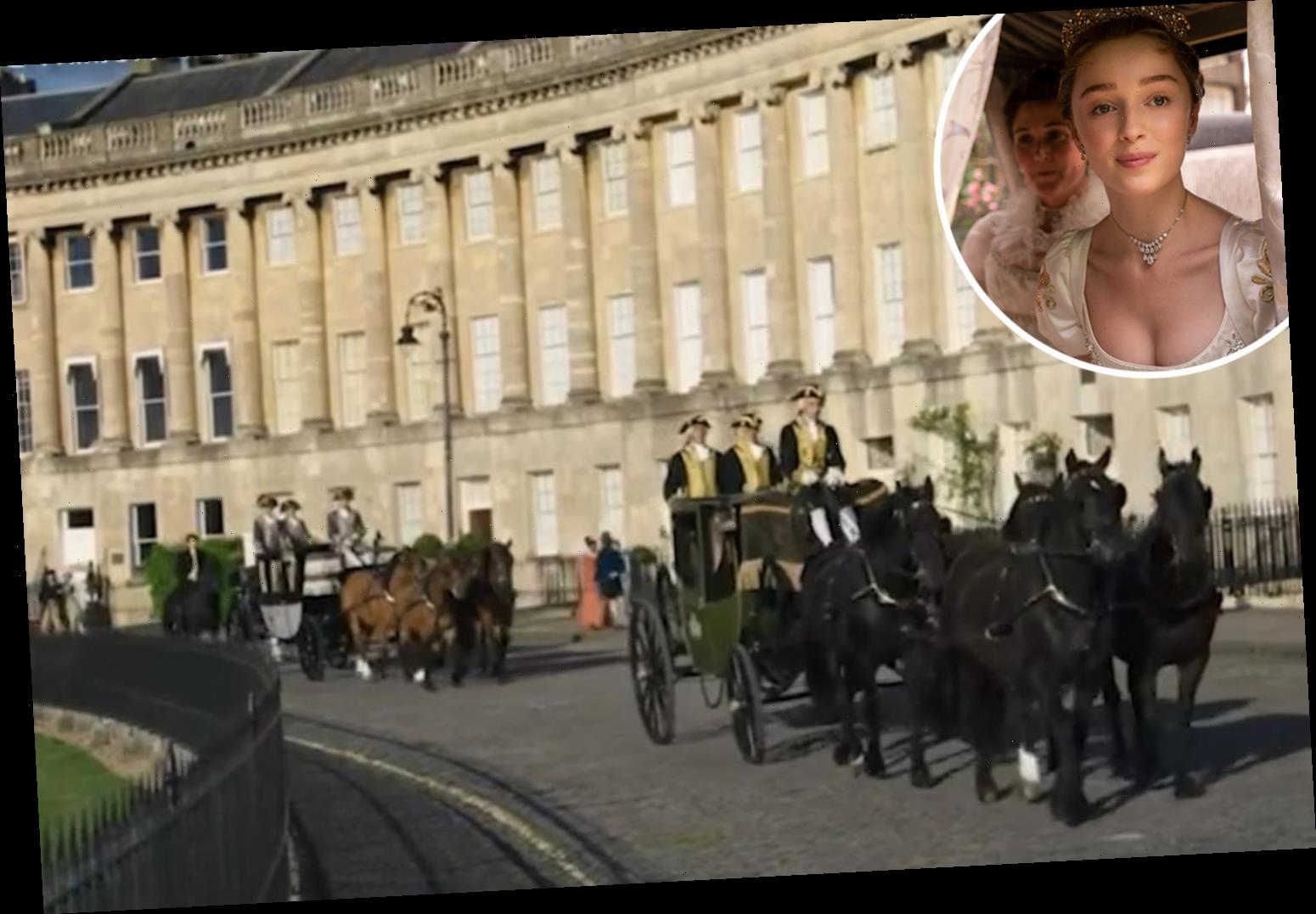 Bridgerton fans spot major historical blunder in opening scene with yellow lines for CARS on the road
