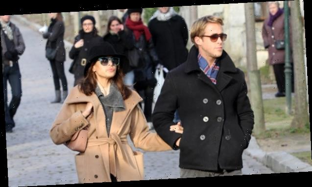 Eva Mendes Spotted Wearing Gold Band On Left Hand During Hike With Ryan Gosling & 2 Daughters: Rare Pics