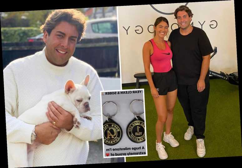 James Argent says he's 'proud' of himself as he celebrates a year sober after near-fatal overdose