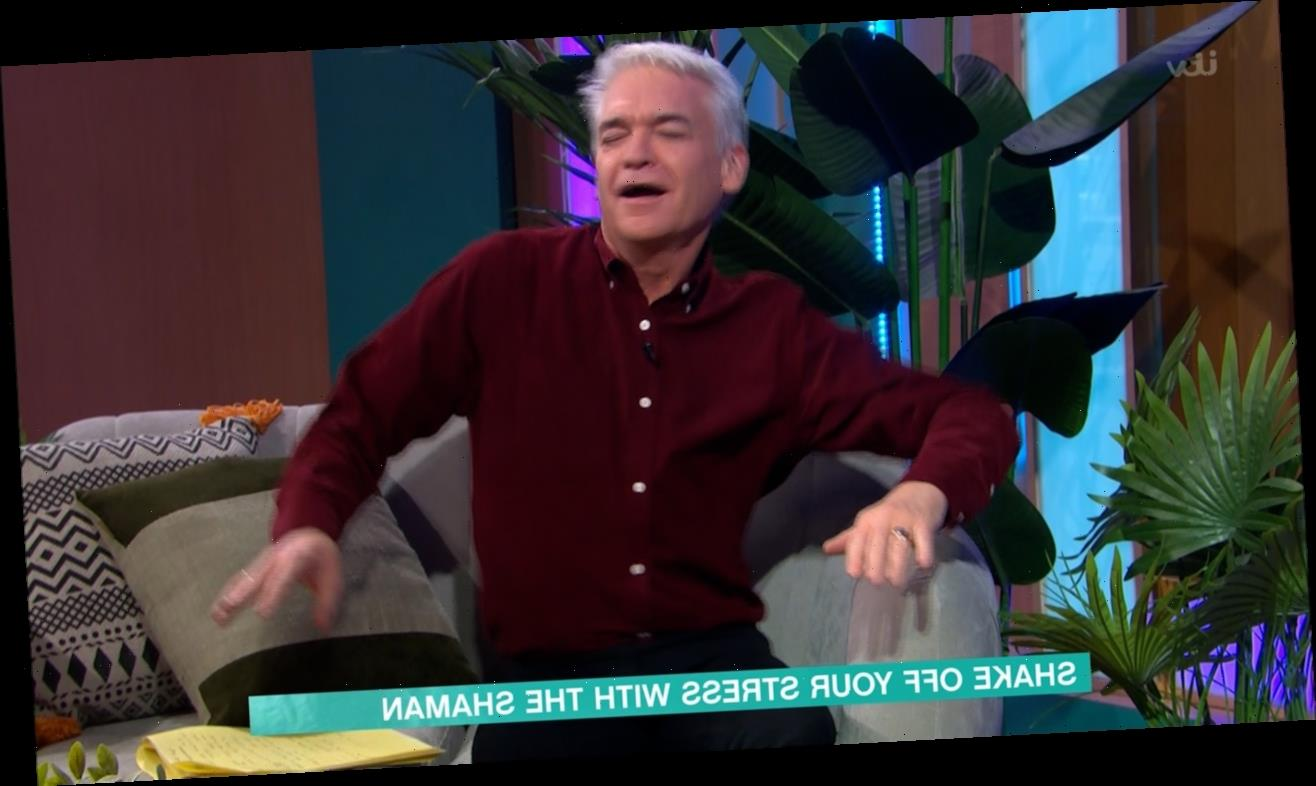 This Morning fans compare Phillip Schofield's dancing to a 'seizure' in bizarre feature with stress-busting Shaman