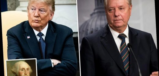 Lindsey Graham rails against bid to convict Trump and fears move may lead to impeachment of GEORGE WASHINGTON