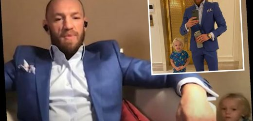 Watch as Conor McGregor's son Jr, 3, repeatedly interrupts UFC star dad's interview leaving him in stitches