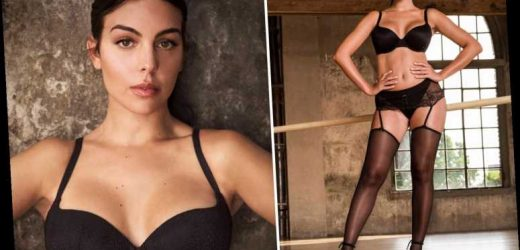 Georgina Rodriguez sizzles in black lingerie as Cristiano Ronaldo's partner shows off stunning figure