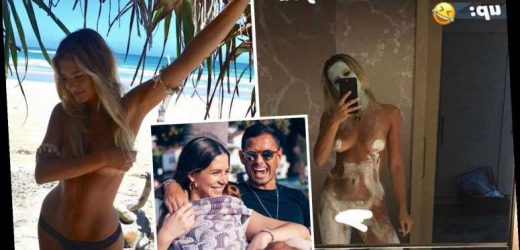 Ex-Man Utd star Javier Hernandez's stunning Wag Sarah Kohan poses naked in daring snap amid claims pair have split