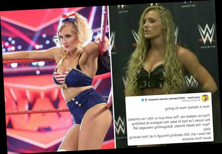 WWE star Lacey Evans reveals death threats and social media abuse hell from 'belittling fans' in emotional post