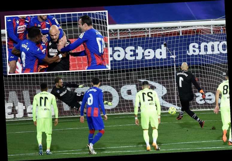 Watch Eibar keeper score penalty against Atletico Madrid before Suarez double as coach reveals he is new spot-kick taker