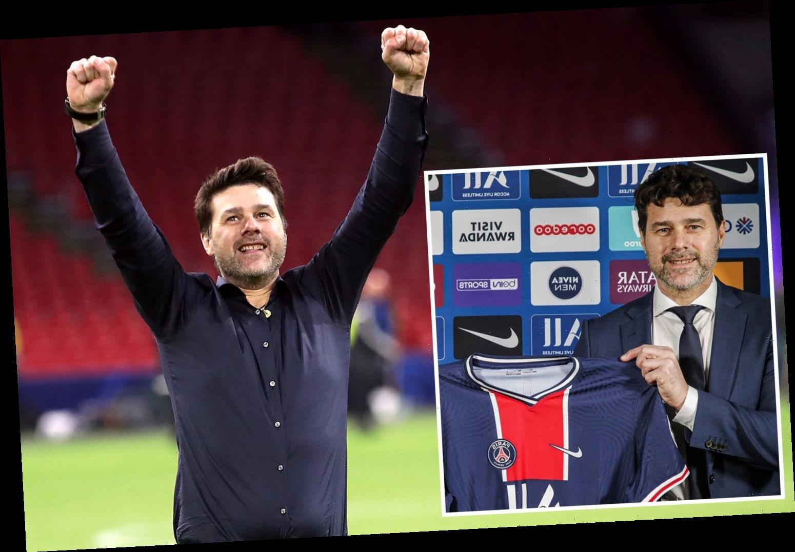 Mauricio Pochettino CONFIRMED as new PSG boss after meeting at club's HQ as Argentine lands first job since Spurs axing