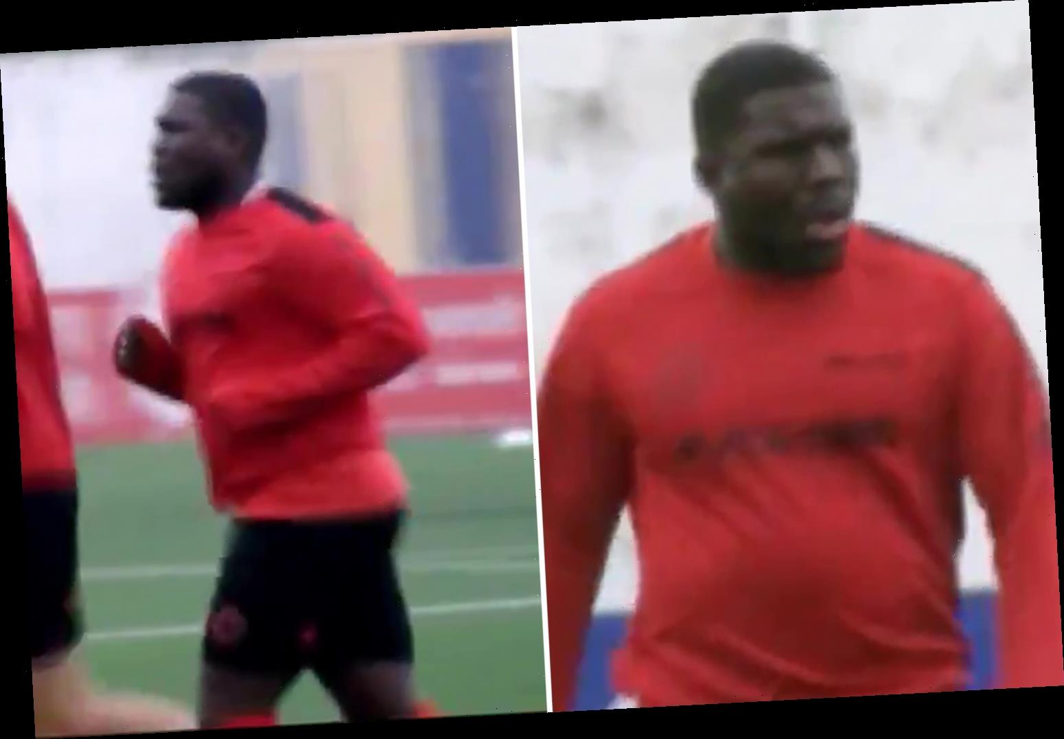 Royston Drenthe looks unrecognisable as he trains with Racing Murcia for first time since shock free transfer aged 33