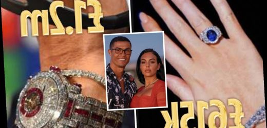Cristiano Ronaldo & Georgina Rodriguez's £2.6m jewellery collection from a £1.2m diamond watch to £615k engagement ring