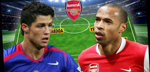 Arsenal and Man Utd teams from last time Gunners did double over Reds including Cristiano Ronaldo, Henry, RVP and Rooney
