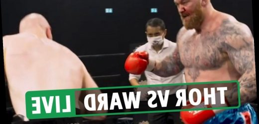 Thor Bjornsson vs Steven Ward LIVE RESULT: Thor vows to KNOCK OUT Eddie Hall after debut boxing draw – latest reaction