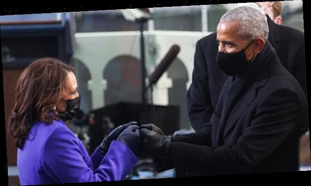 Barack Obama & VP Kamala Harris Fist-Bumping Is The Must-See Pic From Inauguration