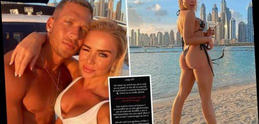 Gabby Allen defends decision to flee Tier 4 by jetting to Dubai as she reveals she'll be working there for 'foreseeable'