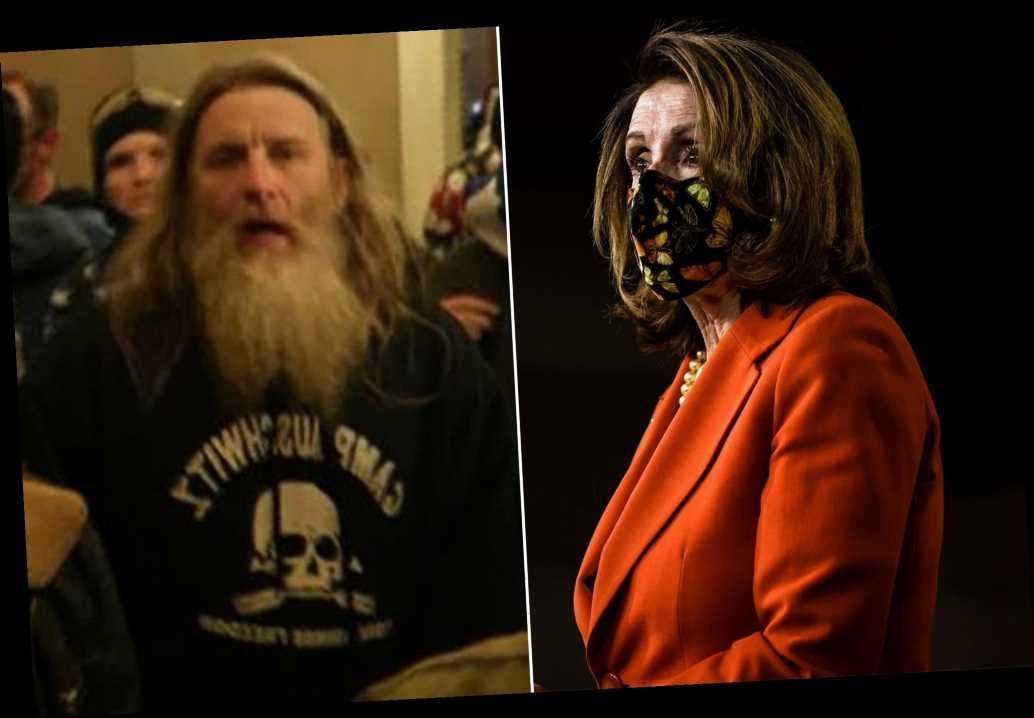 Nancy Pelosi slams 'punk' who wore 'Camp Auschwitz' hoodie at Capitol riot