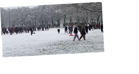 Huge snowball fight erupts in Leeds park as dozens flout coronavirus lockdown rules