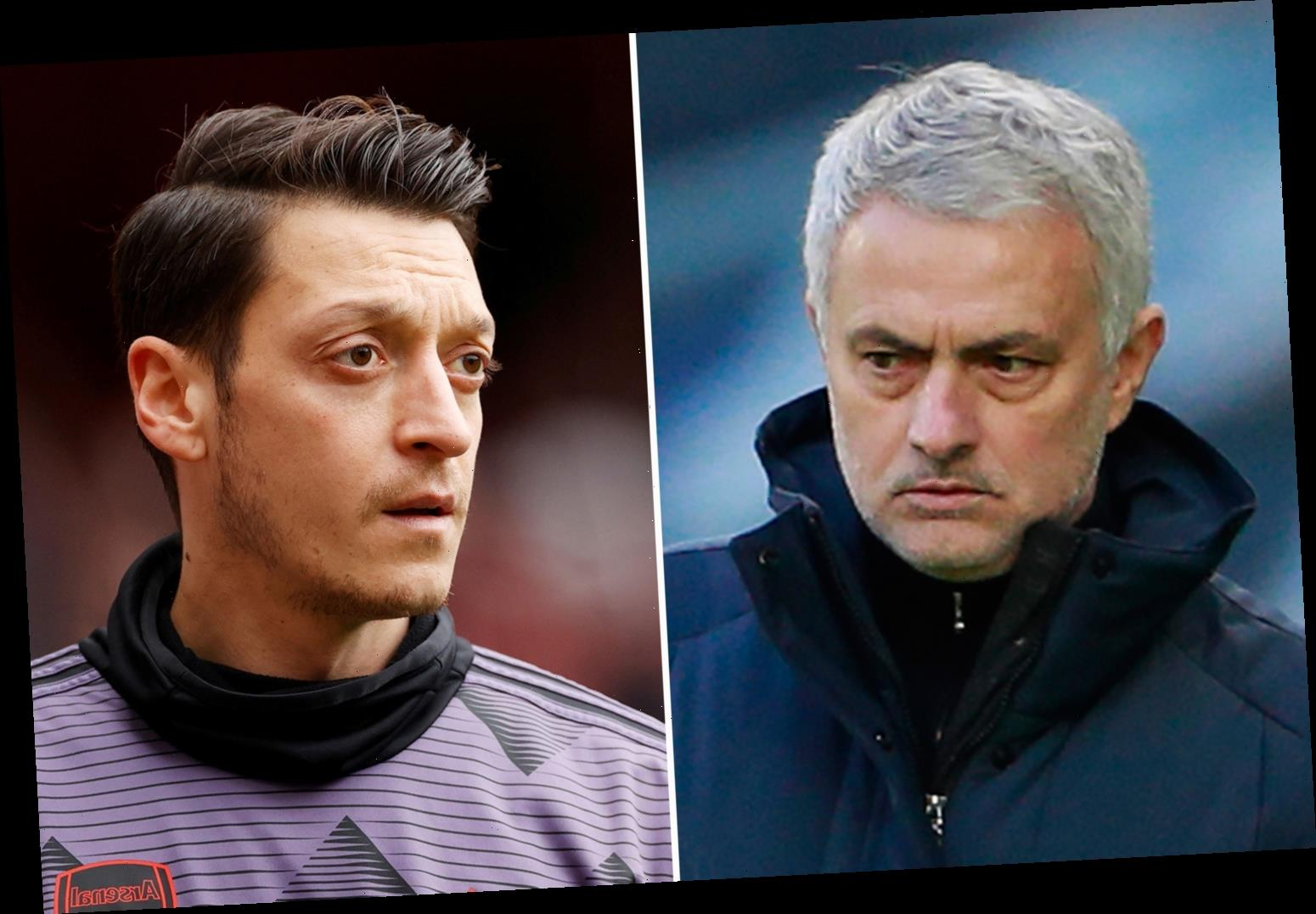 Jose Mourinho's brutal Mesut Ozil put down after Arsenal star said he'd rather retire than play for Tottenham