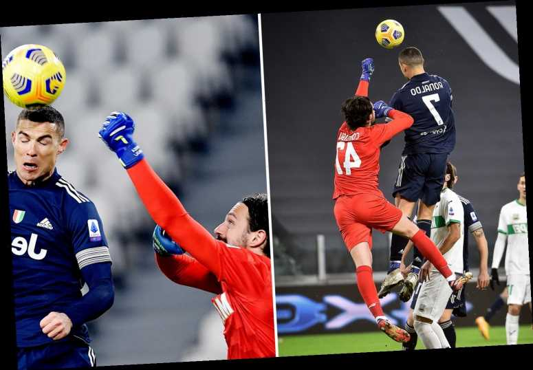 Watch Cristiano Ronaldo's outrageous leap as Juventus striker somehow out-jumps outstretched KEEPER to win header