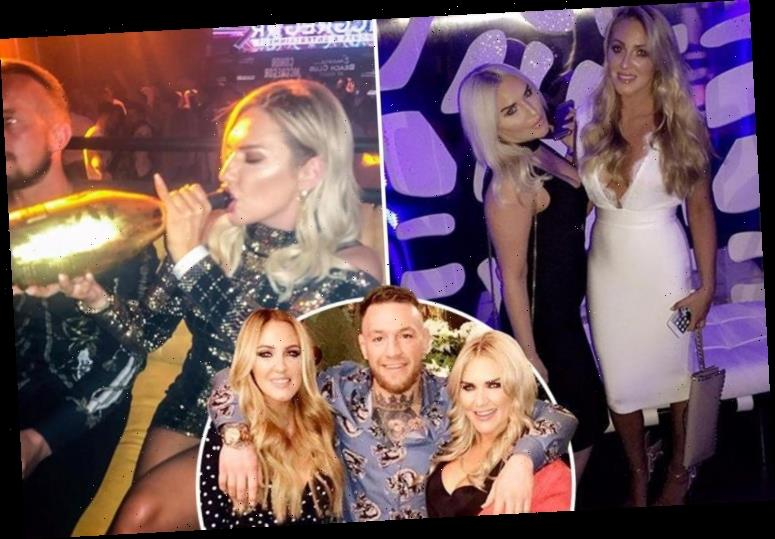 Conor McGregor's glamorous sisters show off their lavish lifestyles, including pool parties and Rolex watches, as brother's £77million payday rolls in