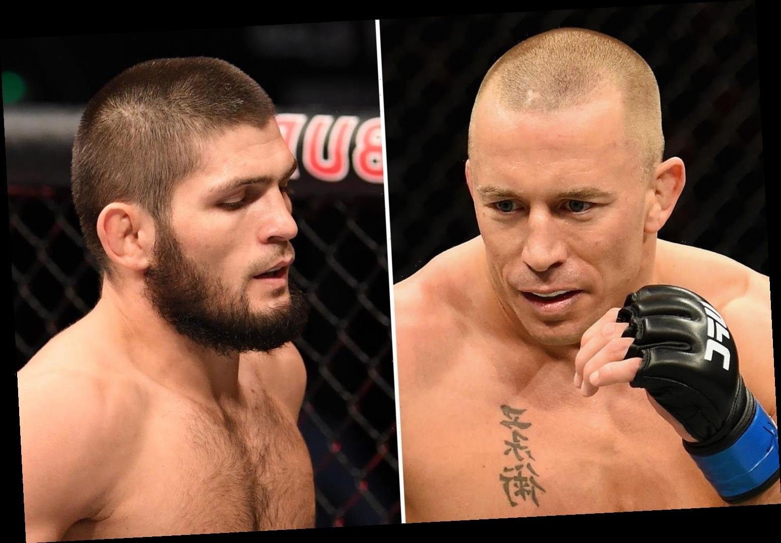 Georges St-Pierre admits he doesn't miss fighting as UFC chief Dana White prepares for showdown talks with Khabib