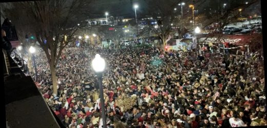 Massive crowds pack the streets of Tuscaloosa after Alabama victory despite COVID-19 warnings