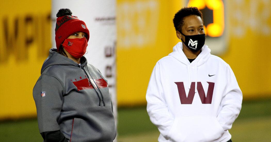 A Washington Coach Reaches a First for Black Women in the N.F.L.