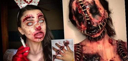 Makeup artist goes viral on TikTok with gruesome special effects