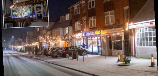 Kent town turns its Christmas lights ON in February to lift spirits