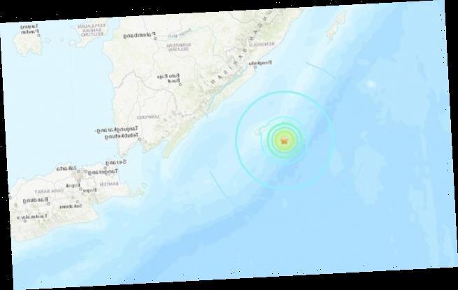 Powerful 6.2-magnitude earthquake strikes off Indonesian island