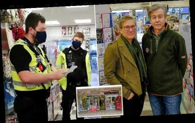 Defiant card shop owners have now racked up £18,000 in Covid fines