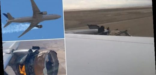 Moment United Airlines flight with exploded engine lands safely