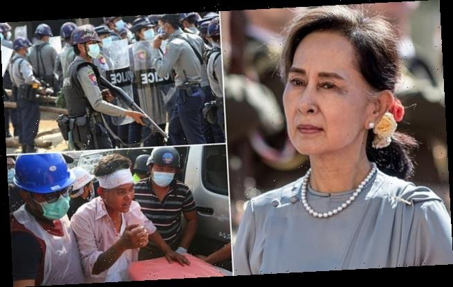Myanmar leader 'missing' after being moved to an undisclosed location