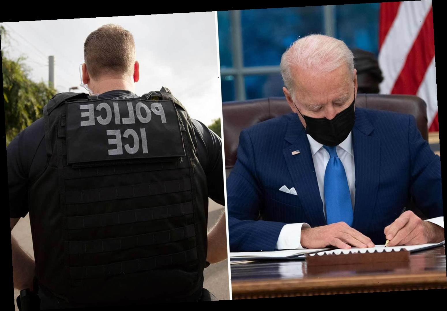 Biden admin 'planning to limit ICE immigration arrests & deportations' after signing exec orders to shred Trump policies