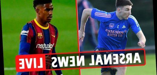1.15pm Arsenal transfer news LIVE: Evan N'Dicka interest, Tierney RETURN, Firpo links, David Luiz red card DECISION